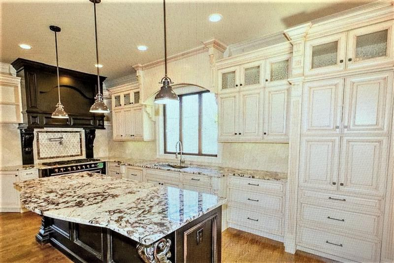 Custom Kitchen Cabinets   Faux Finishes  Granite Tile Installation