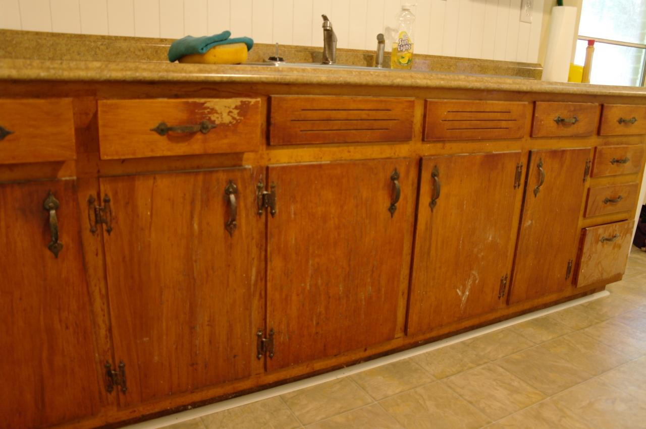 Juliet jones studio cabinet refinishing before after for Refinishing kitchen cabinets before and after